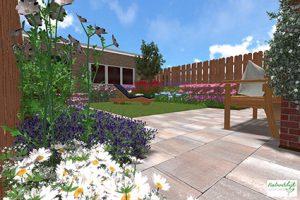 3D tuinontwerp - tuinrenovatie plan verkoopwoning