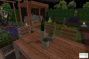 3D tuinontwerp - tuinverlichtingsplan